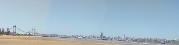 Maputo from sand